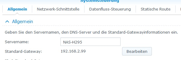 synology Servername ändern