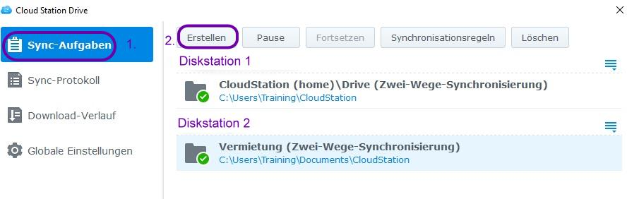 synology-cloudstsation-synch-profile